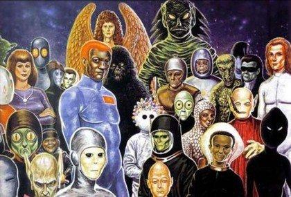 razze di alieni che interagiscono sulla terra