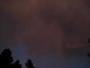 ufo cielo rosso