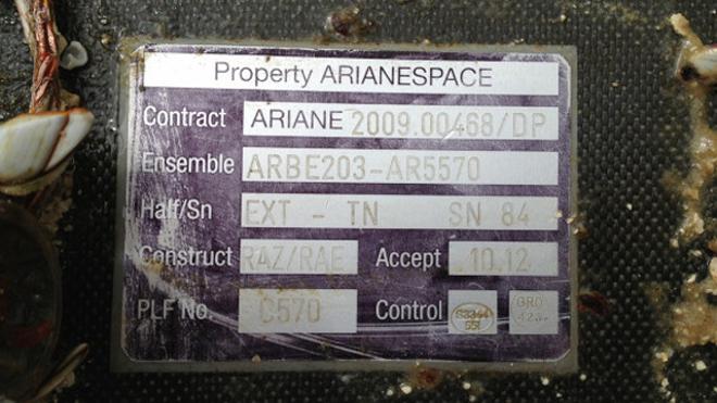 etichetta razzo spaziale