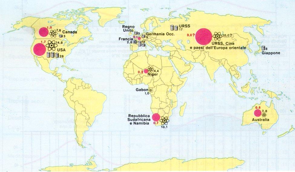 uranio nel mondo
