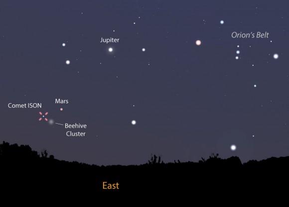cometa ISON cielo di settembre 580x415